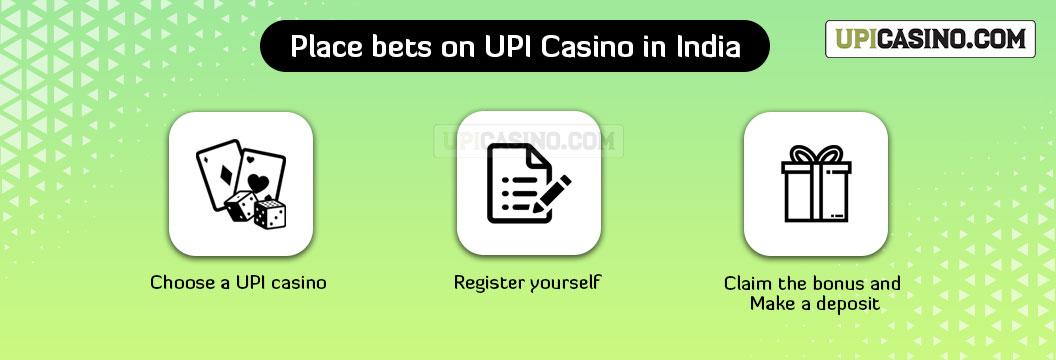 place bets upi casino